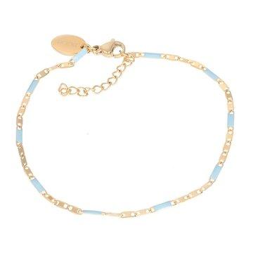 iXXXi Jewelry iXXXi Jewelry Armband Curacao Blue - Goudkleurig