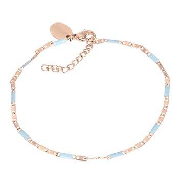 iXXXi Jewelry iXXXi Jewelry Armband Curacao Blue - Rosé