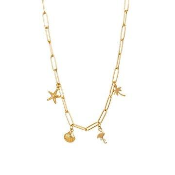 iXXXi Jewelry iXXXi Jewelry Ketting Met Charms - Goudkleurig
