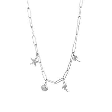 iXXXi Jewelry iXXXi Jewelry Ketting Met Charms - Zilverkleurig