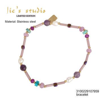 By Jam Gioielli By Jam Armband Purple Pearls