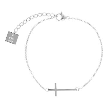 Zag Bijoux Zag Bijoux Kruisje Bracelet Zilverkleurig