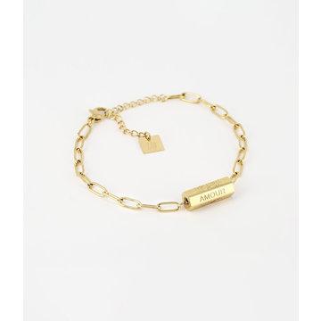 Zag Bijoux Zag Bijoux Big Chain Bar Bracelet Goudkleurig