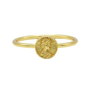 Karma Karma Ring Coin Goldplated