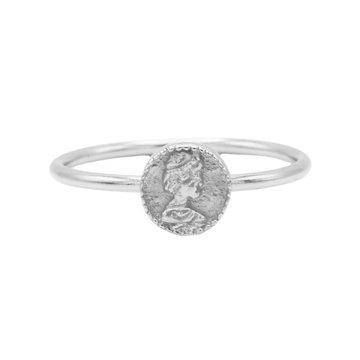 Karma Karma Ring Coin Silver