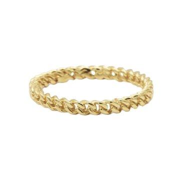 Karma Karma Ring Chain Goldplated