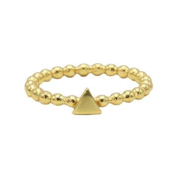 Karma Karma Ring Dots Triangle Goldplated