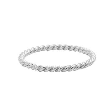 Karma Karma Ring Twisted Plain Silver