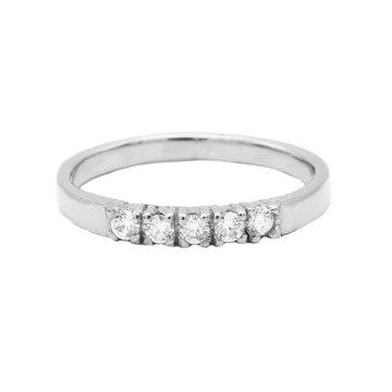 Karma Karma Ring 4 Zirconia Silver
