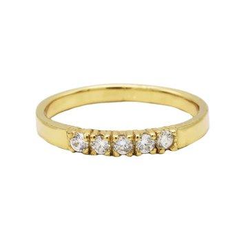 Karma Karma Ring 4 Zirconia Goldplated