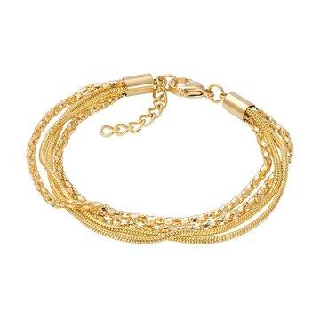 iXXXi Jewelry iXXXi Jewelry Enkelbandje Snake and 2 Popcorn Goudkleurig