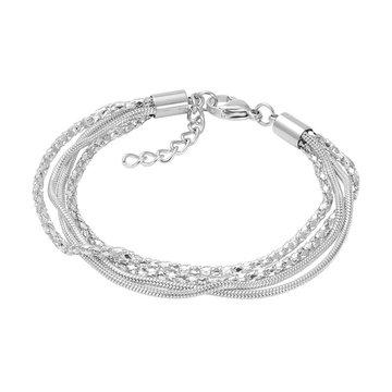 iXXXi Jewelry iXXXi Jewelry Enkelbandje Snake and 2 Popcorn Zilverkleurig