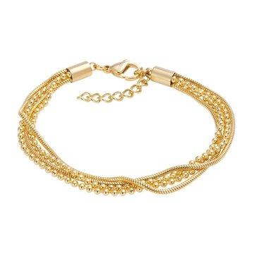 iXXXi Jewelry iXXXi Jewelry Enkelbandje Snake Ball Slim Goudkleurig
