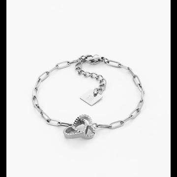 Zag Bijoux Zag Bijoux Heart Bracelet Zilverkleurig
