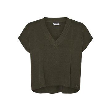 Noisy May Noisy May NMINES Semi Crop V-Neck Knit Vest BG Rosin