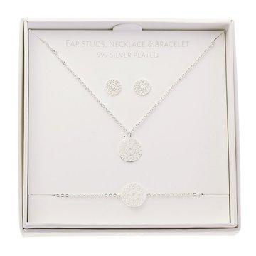 Crystals Crystals Gift Set Mandala Of Luck Zilverkleurig
