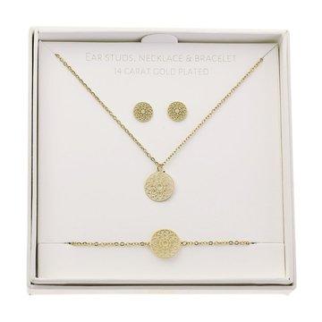 Crystals Crystals Gift Set Mandala Of Luck Goudkleurig