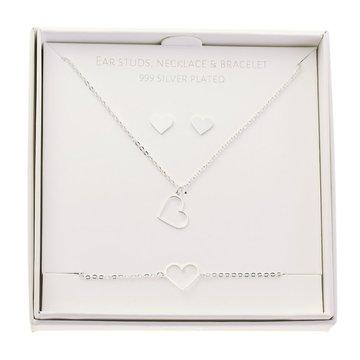 Crystals Crystals Gift Set Heart Zilverkleurig