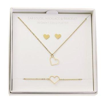 Crystals Crystals Gift Set Heart Goudkleurig