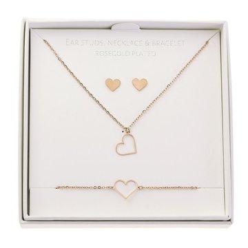 Crystals Crystals Gift Set Heart Rosé