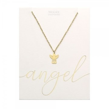 Crystals Crystals Angel Ketting Goudkleurig