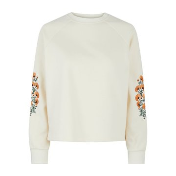 Pieces Pieces PCFemilla LS Sweat BC Buttercream/Embroidery