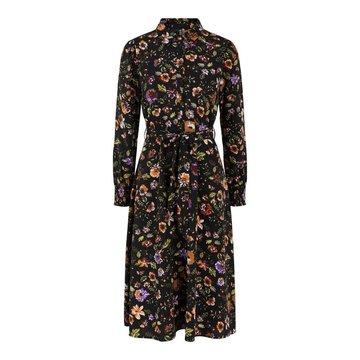 Pieces Pieces PC Falishi LS Midi Shirt Dress Flowers