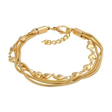 iXXXi Jewelry iXXXi Jewelry Armband Snake Heart Goudkleurig