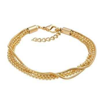 iXXXi Jewelry iXXXi Jewelry Armband Snake Ball Slim Goudkleurig