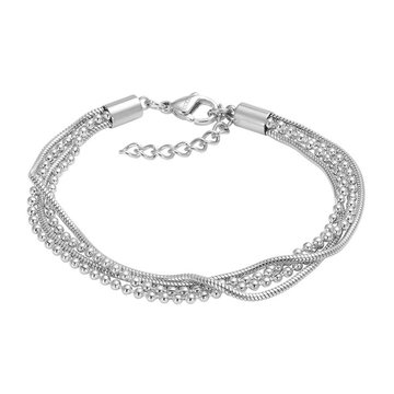 iXXXi Jewelry iXXXi Jewelry Armband Snake Ball Slim Zilverkleurig
