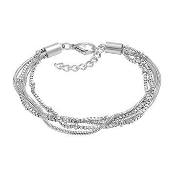 iXXXi Jewelry iXXXi Jewelry Armband Snake Knot Zilverkleurig
