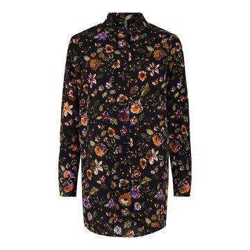 Pieces Pieces PC Falishi LS Long Shirt Black/Flowers
