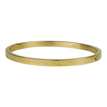 Kalli Kalli Bracelet 2126 4mm Stars Goudkleurig M - 58 mm