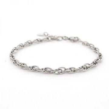 Kalli Kalli Kalli Schakel Armband 2640 Zilverkleurig