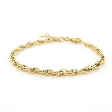 Kalli Kalli Kalli Schakel Armband 2640 Goudkleurig