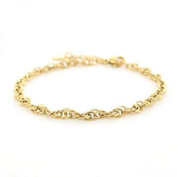 Kalli Kalli Kalli Schakel Armband 2641 Goudkleurig