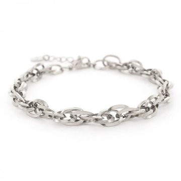 Kalli Kalli Kalli Schakel Armband 2643 Zilverkleurig