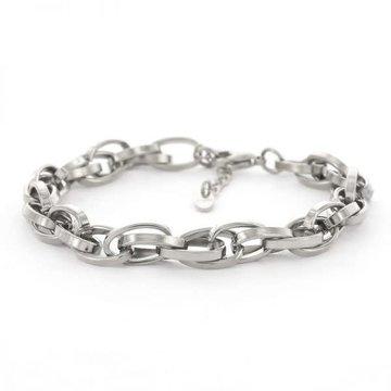 Kalli Kalli Kalli Schakel Armband 2645 Zilverkleurig