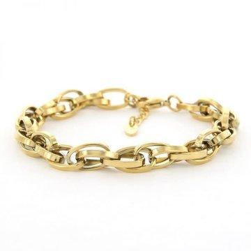 Kalli Kalli Kalli Schakel Armband 2645 Goudkleurig