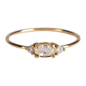 Charmin*s Charmins Ring R801 Goudkleurig Zirconia