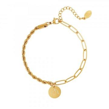 Goodies Goodies Zodiac Armband Aquarius Goudkleurig