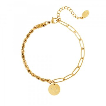 Goodies Goodies Zodiac Armband Libra Goudkleurig