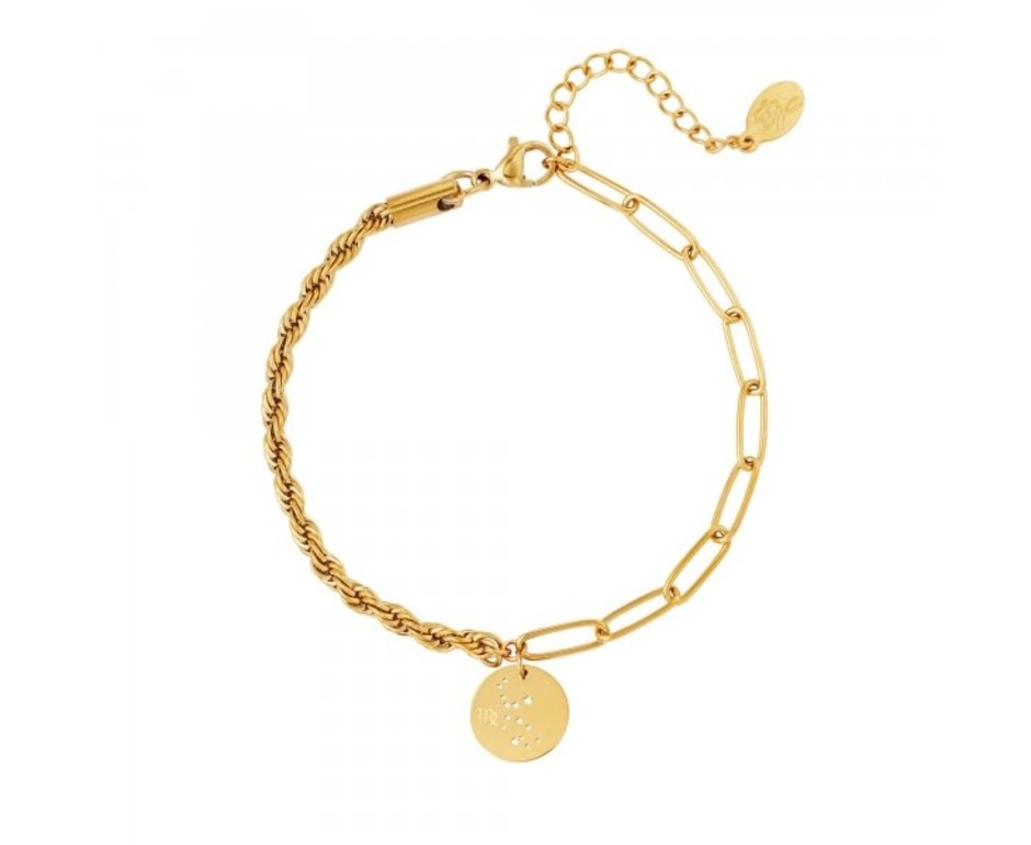 Goodies Goodies Zodiac Armband Virgo Goudkleurig