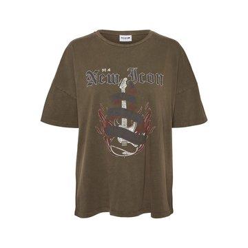 Noisy May Noisy May NM Ida S/S City T-Shirt Partridge