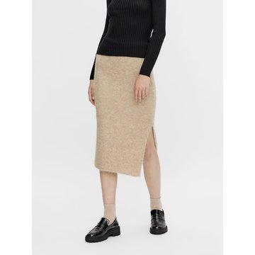 Pieces Pieces PC Fanna HW Midi Knit Skirt BC