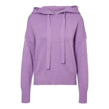 Noisy May Noisy May NM Ship L/S Hoodie Knit BG Noos Amethyst Orchid