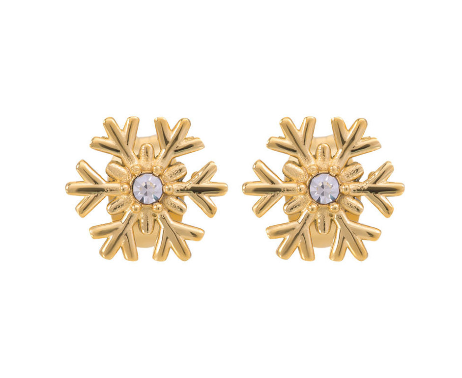 iXXXi Jewelry iXXXi Jewelry Oorbellen Snowflake Goudkleurig