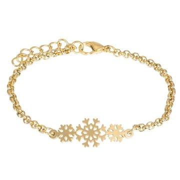 iXXXi Jewelry iXXXi Jewelry Armband Snowflake Goudkleurig