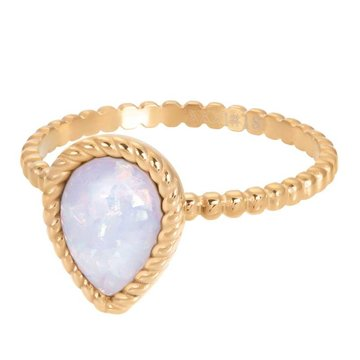 iXXXi Jewelry iXXXi Jewelry Losse Ring Magic Snow Goudkleurig