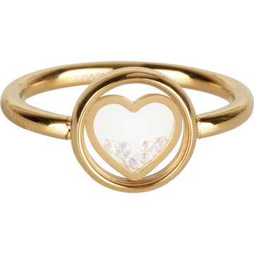 Charmin*s Charmin's Ring R961 Dancing Love With Crystal Goudkleurig
